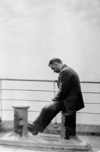 Sigurd Bratlie traveled often. Here he is on his way to Copenhagen in the early 1930s.